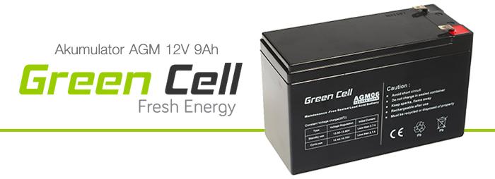 AGM Green Cell 12V 9Ah Fresh Energy