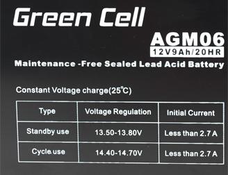 Green Cell AGM01 12V 9Ah 20HR