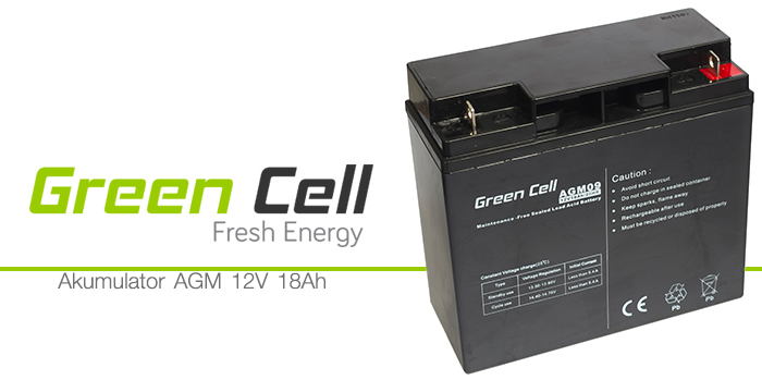 AGM Green Cell 12V 18Ah Fresh Energy