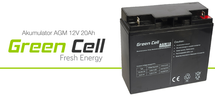 AGM Green Cell 12V 20Ah Fresh Energy