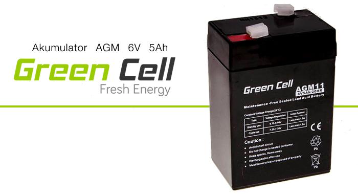 AGM Green Cell 6V 5Ah Fresh Energy