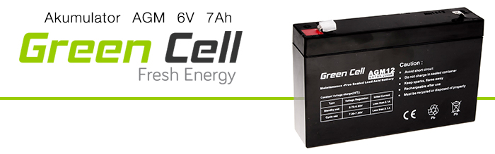AGM Green Cell 6V 7Ah Fresh Energy