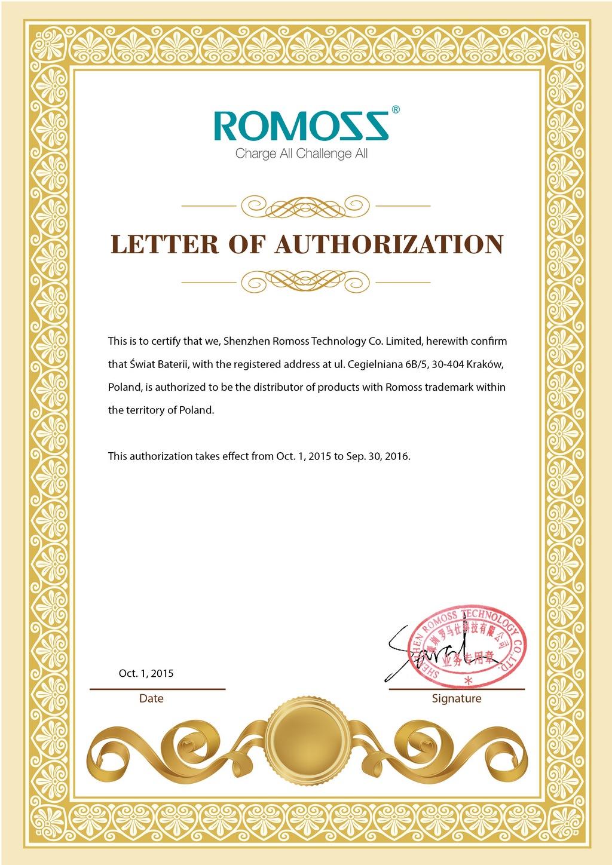 Certyfikat Romoss