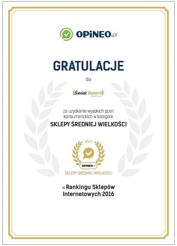 Ranking Sklepów Internetowych 2016 Opineo.pl